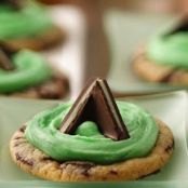Mint Candy Filled Cookies
