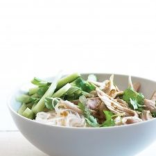 Cold Glass Noodle and Chicken Salad in Peanut Sauce