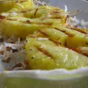 Grilled Pineapple with Lime & Coconut