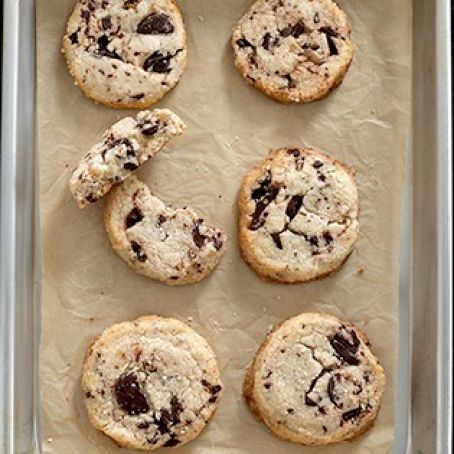 Chocolate Chip Shortbread Cookies, GF