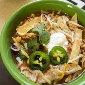 Skinny Slow Cooker Chicken Tortilla Soup
