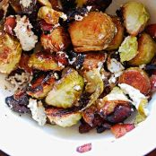 Roasted Brussel Sprouts with Crispy Pancetta