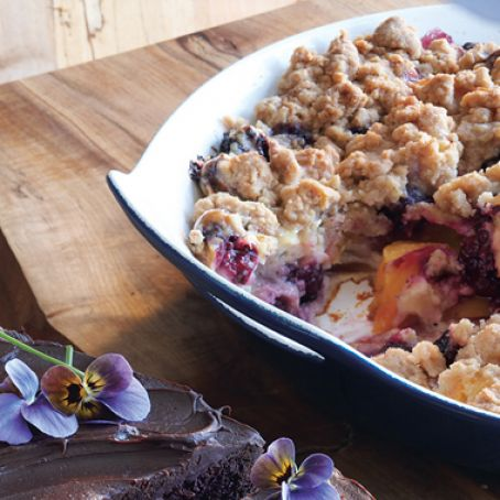 Nectarine Blackberry Crisp