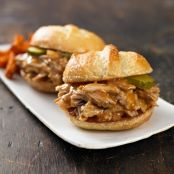 Slow Cooker Pulled Pork & Apple Cider Sliders
