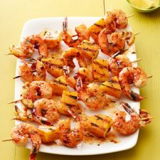 Shrimp and Pineapple Skewers (Chipotle)