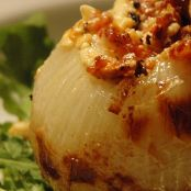 Grilled Blue Cheese & Bacon Stuffed Onions