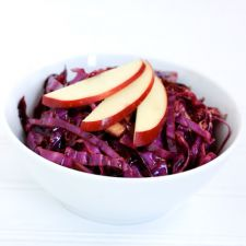 Red Cabbage Salad with Cranberries