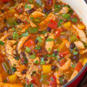 Chicken Fajita and Rice Soup
