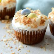 CAKE - Banana Carrot Cake Cupcakes with Coconut Cream Cheese Frosting