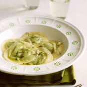 Ravioli Filled with Spring Peas, Ricotta and Mint Recipe