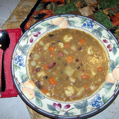 Fiber Rich 7 Bean and Barley Soup