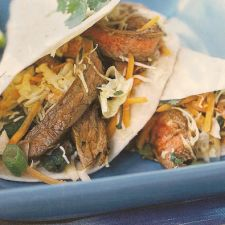 Thai Beef Tacos with Lime-Cilantro Slaw