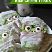 Monster Rice Cereal Treats from A Fork and Beans Halloween Special