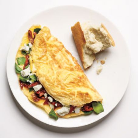 Spinach, Feta, & Sun-Dried Tomato Omelet