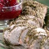 Herbed Pork Roast and Cranberry Chutney