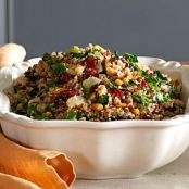 Herbed Quinoa & Red Rice Stuffing with Kale & Pine Nuts