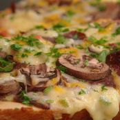 Philly Cheesesteak French Bread Pizza