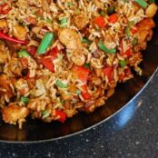 Spicy Singapore-Style Chicken Fried Rice