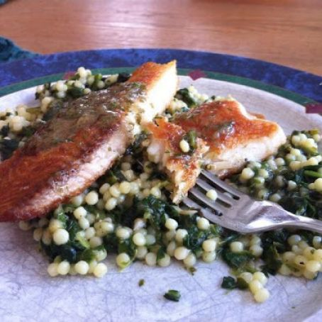 Pan Seared Talapia with lemon herb butter sauce