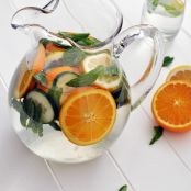 Orange Lemon Cucumber & Mint Infused Water