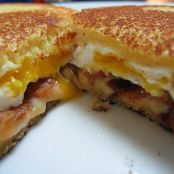 Grilled Cheese Sandwich with Bacon & Fried Egg