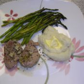Sauteed Pork Medallions with Lemon-Garlic Sauce