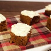 Ginger Pumpkin Bars with Cream Cheese Icing