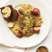 Slow-Cooker Bratwurst With Sauerkraut & Potatoes