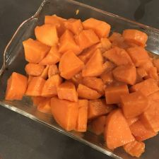 Pressure Cooker Candied Sweet Potatoes with Pecans