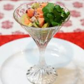 Salmon Ceviche with Tomatoes and Scallions