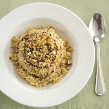 Creamy Parmesan Risotto with Bacon and Walnuts
