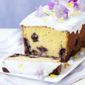 Lemon Curd & Blueberry Loaf Cake