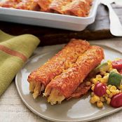 Chicken Enchiladas with Avocado-Corn Salad