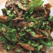 Beef, Shiitake, and Snow Pea Stir-Fry