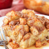 Overnight Cinnamon Apple Baked French Toast
