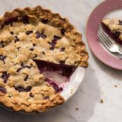 Concord Grape and Pear Pie