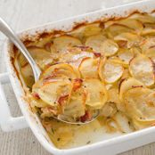 Potato Casserole with Bacon and Caramelized Onions