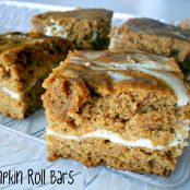 Cream cheese pumpkin roll bars