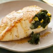 Spicy Kale and Corn Stuffed Chicken Breasts