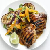 Grilled Caribbean Chicken Thighs