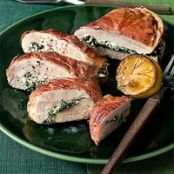 Prosciutto-Wrapped Chicken Breast Stuffed with Ricotta & Spinach