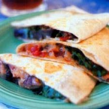 Roasted Portobello Mushroom Quesadilla