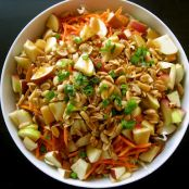 Cabbage Salad with carrots, apples & peanuts