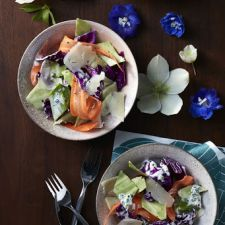 Cabbage Salad With Shaved Carrotes & Fiore Sardo