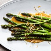Asparagus Nobu Fried w/ Miso Dressing