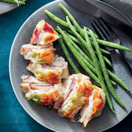 Cheesy Chicken Cutlets with Ham & Jam