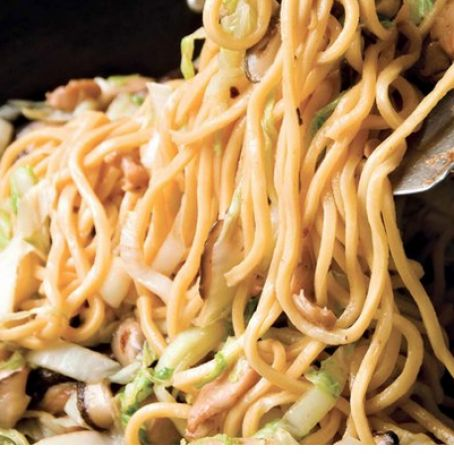 Longevity Noodles with Chicken, Ginger & Mushrooms