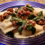 Ravioli with Brown Butter-Basil Sauce