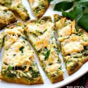 Pesto Chicken Flatbread
