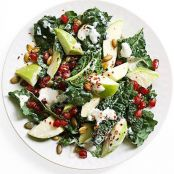 Rocco DiSpirito's Crunchy Kale, Apple & Pomegranate Salad